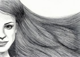 Ballpoint Hair by Cindy-R