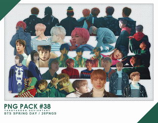 PNG PACK#38 -  BTS Spring Day 26PNGs - By Yangyang by Yangyanggg