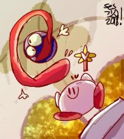 Kirby And Gooey by selom13
