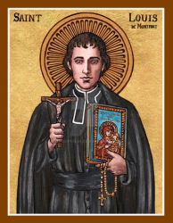 St. Louis de Montfort icon by Theophilia