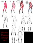 Darklings - Victoria daemon concept drawings by RavynSoul