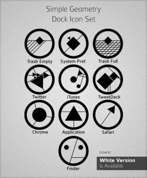 Simple Geometry Dock Icon Set by arieare