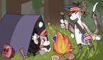 Hiking in the woods Prompt by RascalWabbit