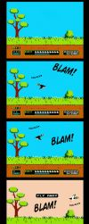 8-bit Gamer Luna - Duck Hunt by Niban-Destikim