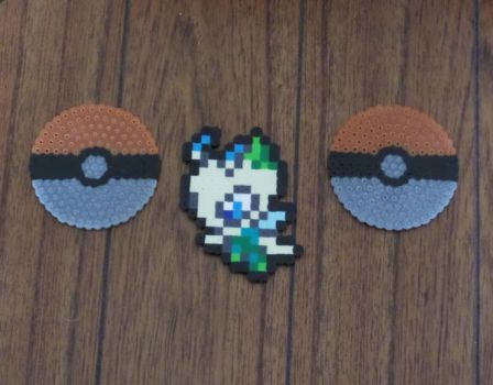 Celebi and GS Ball Perlers by PracticallyGeeky