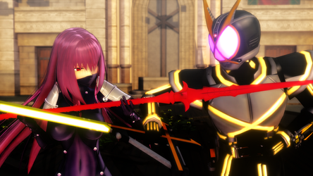 [MMD KAMEN RIDERXFATE] Lancer vs Rider by MIST-TO-GUN