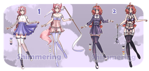 Mahousuc adoptables set price (lowered) [1/2 open] by shimmering-jade