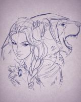Vex'ahlia and Trinket by Gearfreed