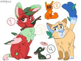 More Summer-Themed Adopts! CLOSED by vvulpus