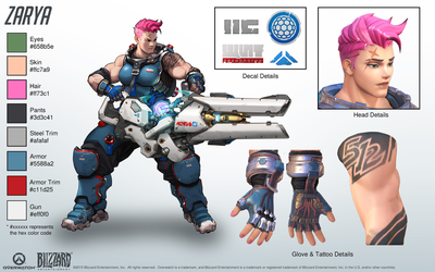 Zarya - Overwatch - Close look at model by PlanK-69