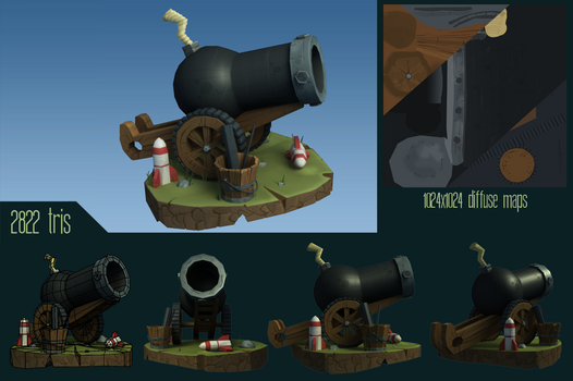 Cannon - Raw render and informations by Whalzz
