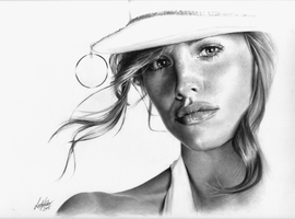 Jennifer Garner portrait by imaginee