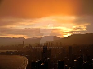 Benidorm Sunset Resort Photography Print