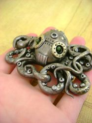 Mechanical Octopus No3 by monsterkookies