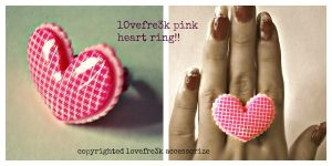 lOvefre3k's pink heart ring!! by lovefreek