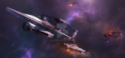 Battered But Victorious! USS VENTURE Now In 2374 by StalinDC