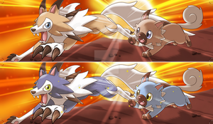Rockruff + Midday Lycanroc Bookmark [+Shiny] by Cachomon