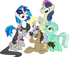 The Mane Background Ponies by hombre0