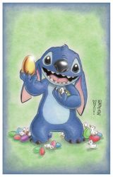 Stitch Easter by DenaeFrazierStudios