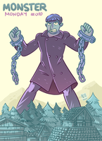 Monster Monday 010- Christopher Lee tribute by rickruizdana