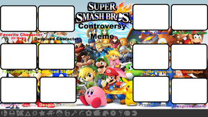 Super Smash Bros. Controversy Meme Blank by Roro102900
