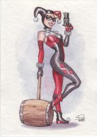 Harley Quinn Watercolor by Sabinerich