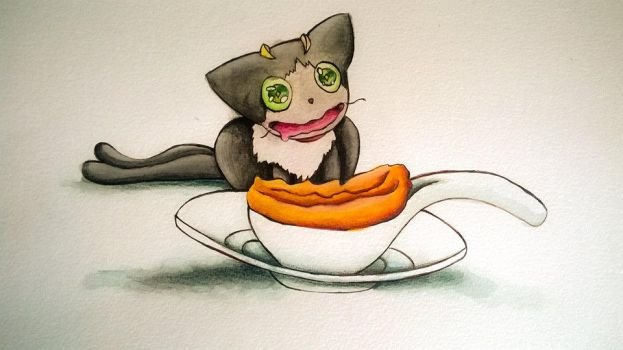 when your cat is hungry by olinore