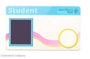 Blank Conterlot High Student ID Card Vector Base by midnightlunarose