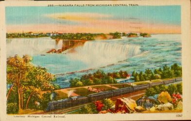Niagara Falls from Michigan Central Train by Yesterdays-Paper