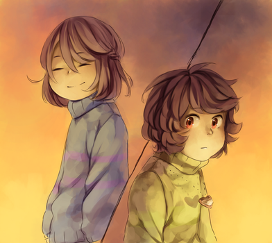They smiled at Chara like once. by Nojida
