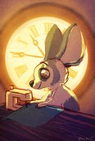 Sewing Time by OrcaOwl