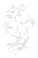 Chocobo Sketch by Cypher7523