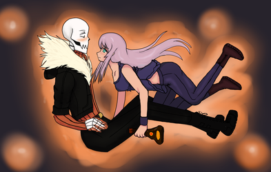 Swapfell: Papyrus and OC Sinna by R3dArkang3l