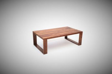 Walnut Geo Leg Coffee Table by belakwood