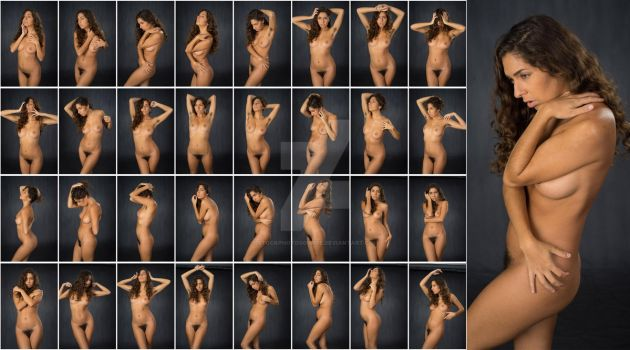 Stock: Mona Art Nude Portrait Poses - 32 Images by stockphotosource