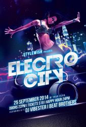 Electro City Flyer Template by styleWish