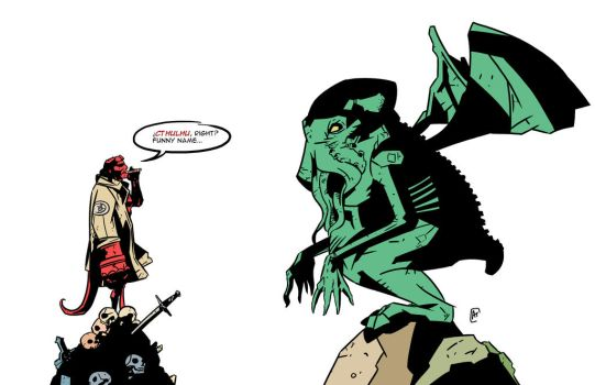 Hellboy meets Cthulhu by 007Alfredo
