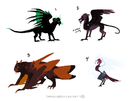 Avian Adopts 3 [Point Option Added!] by Adopt-Monstar