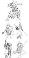 Fighters Sketch Dump by Croxot