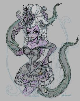 Steampunk Ursula layout Color by NoFlutter