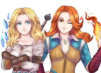 Witcher Sisters by keterok