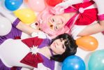 Chibi Moon and Sailor Saturn Cosplay by Elfazelle