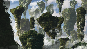 GRAVITY - Floating Mountains by Ahmed7193