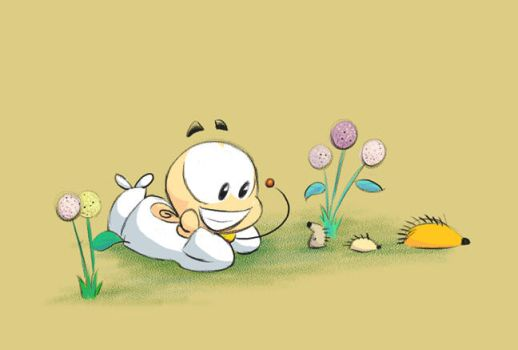 Siin frolicking with some hedgehogs by White88888888