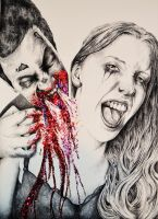 Zombie Attack with Glitter by jimhaller