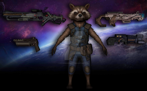 Rocket Raccoon (Infinity War) by Pitermaksimoff