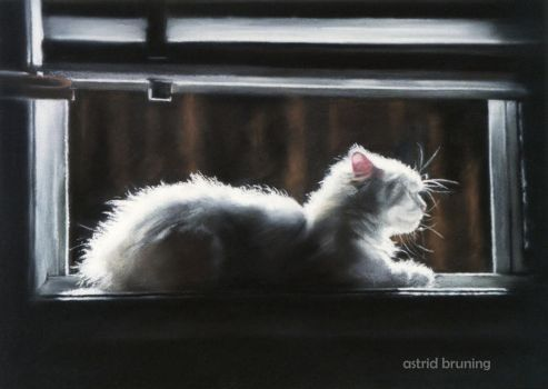 White Light - Pastel Painting by AstridBruning