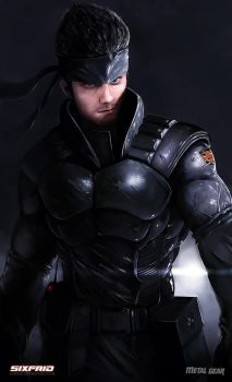 Solid Snake by sixfrid