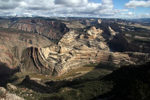 Mitten Park Fault from Harpers Corner, Dinosaur NM by RichardEly