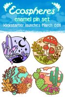 Kickstarter Announcement - Enamel Pin Set by CrystalCurtisArt